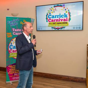 Chairman Brendan Dee, presenting at the Launch Party
