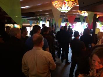 2017 - Launch night in Gings Bar